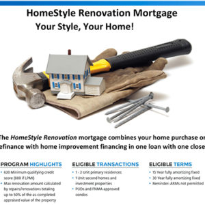 Renovation Mortgage flyer image